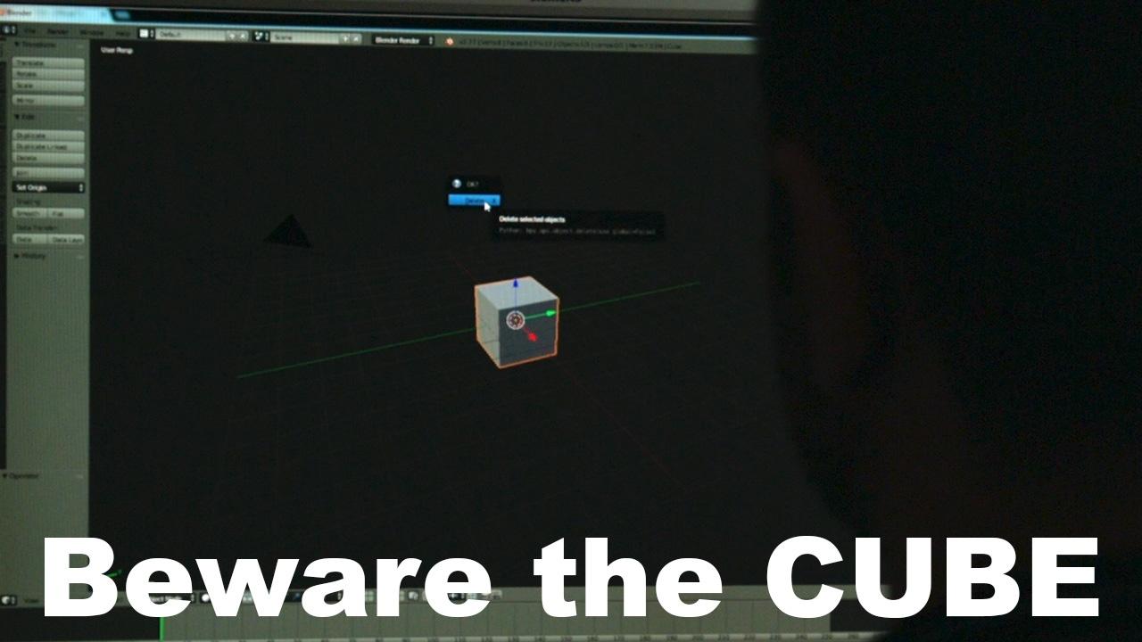 Bewrae the cube - Thumb